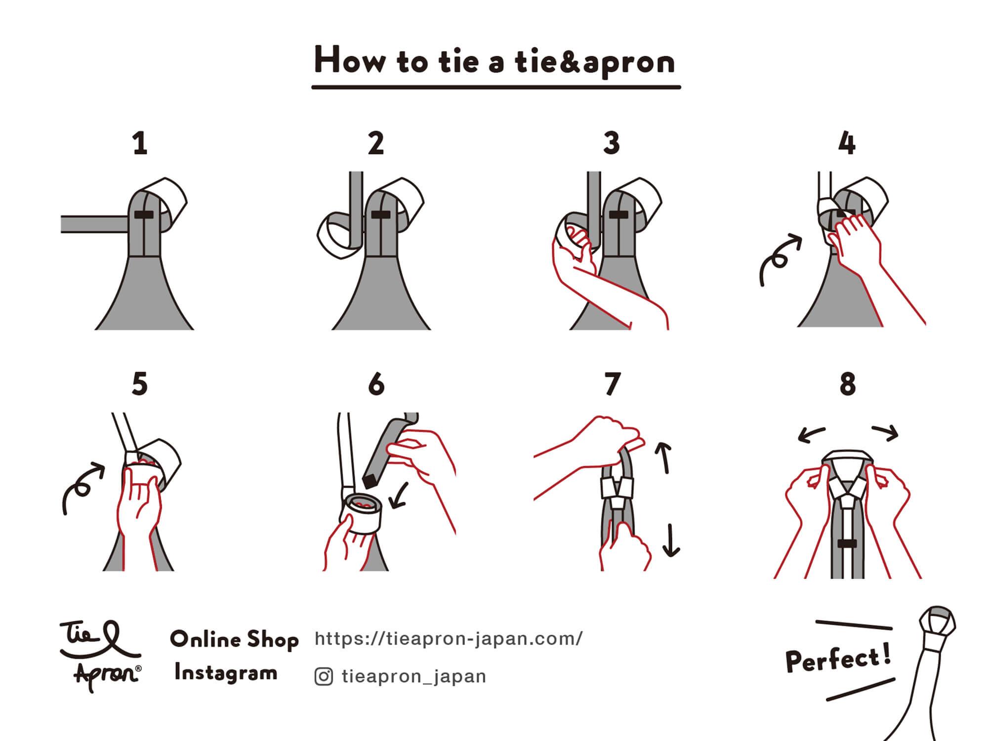 How to tie a tie&apron